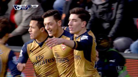Mål: Özil öppnar målskyttet mot Bournemouth (0-1)