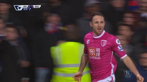 Mål: Pugh placerar in kvitteringen för Bournemouth (1-1)