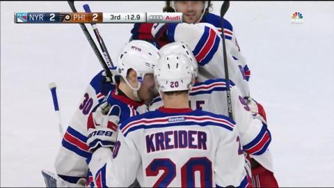 Mål: Rangers kvitterar med tolv sekunder kvar