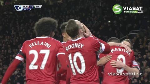 Mål: Rooney avslutar Uniteds skolboksanfall (3-0)