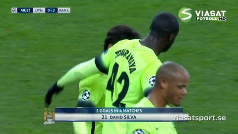 Mål: Silva utökar efter riktigt mönsteranfall (0-2)