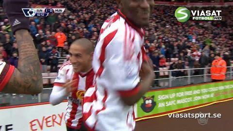 Mål: Sunderland chockstartar - nätar i tredje minuten (1-0)