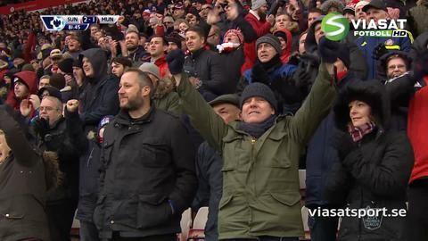 Mål: Sunderland tar ledningen på nytt - De Gea tappar bollen (2-1)
