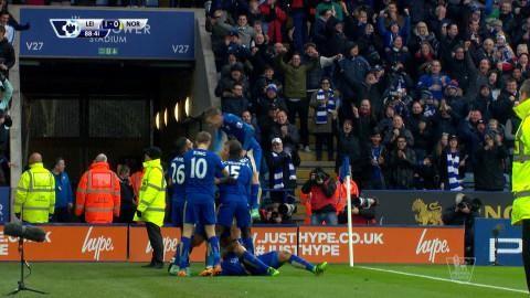 Mål: Ulloa ger Leicester ledningen (1-0)