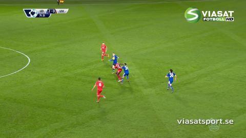 Mål: Vardy smäller upp sitt andra för kvällen (2-0)