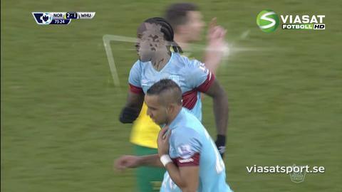 Mål: West Ham reducerar genom Payet (2-1)