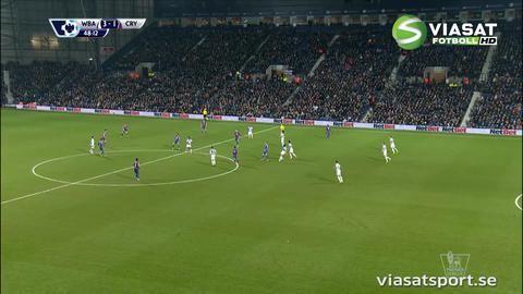 Mål: Wickham reducerar efter Olssons blunder (3-1)