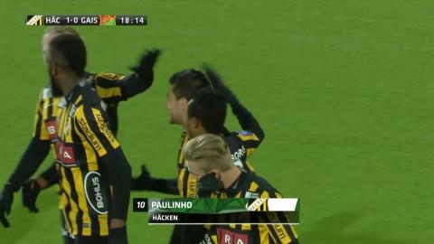 Paulinho sätter 1-0 för Häcken i derbyt