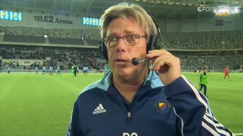 Pelle Olsson gillar vad han sett av provspelaren Olunga: ''Intressant, helt klart''