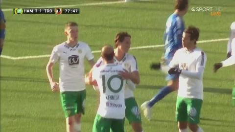 Philip Haglund knoppar in 2-1 till Hammarby