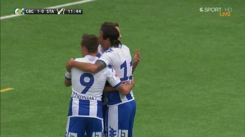 Rieks sätter 1-0 för Göteborg mot Stabaek