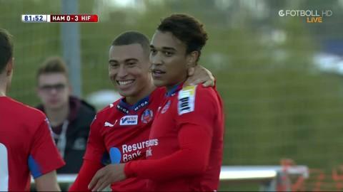 Rusike sätter 3-0 till Helsingborg efter fint Atakora-förarbete