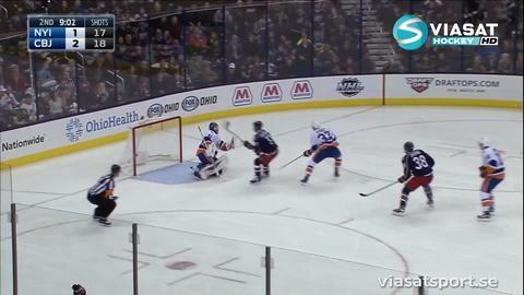 Sammandrag: Columbus-NY Islanders 2-3