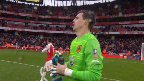 Sammandrag: Jakupovic nollade Arsenal i FA Cupen