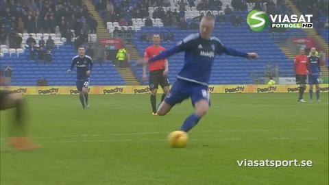 Sammandrag: Målexplosion när Cardiff vann i toppmötet
