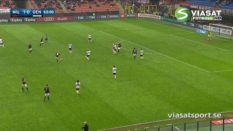 Sammandrag: Milan tog tre poäng hemma mot Genoa