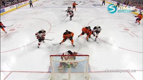 Sammandrag: Philadelphia Flyers - New Jersey Devils 1-2 (OT)