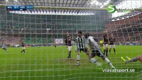 Sammandrag: Udinese plockade poäng mot Milan