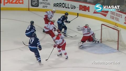 Sammandrag: Winnipeg-Carolina (3-5)