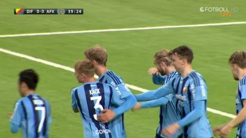 Sebastian Andersson nickar in 1-0 till Djurgården