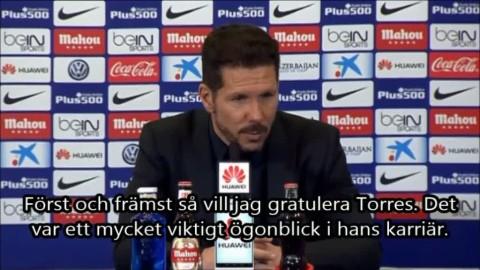 "Simone: ""Stort ögonblick i Torres karriär"""