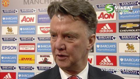 """Van Gaal efter segern: """"Det var en väldigt bra match från oss"""""""