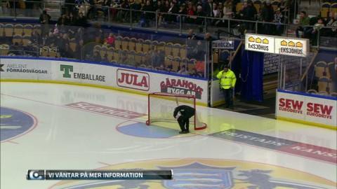 Vattenläcka stoppar matchen tillfälligt mellan HV71 och Karlskrona