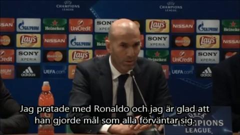 """Zidane efter segern: """"Ronaldo var skillnaden"""""""