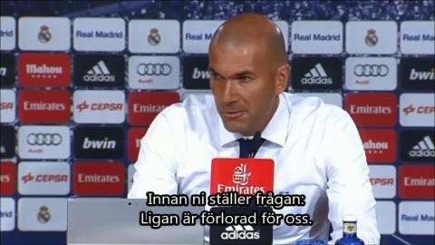 """Zidane: """"Ligan är förlorad"""""""