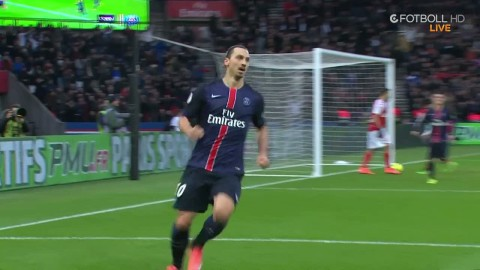 Zlatan smäller in ledningsmålet till PSG