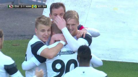 Fint anfall ger ÖSK 2-1 mot Hammarby