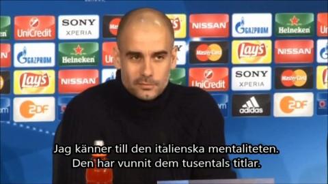"""Guardiola fruktar den italienska mentaliteten: """"Vunnit dem många titlar"""""""