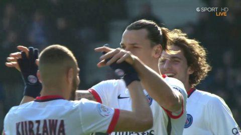 Hattrick av Zlatan - trycker upp bollen i krysset