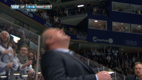 Leksands galna målmiss - Lukas Ericsson missar öppet mål