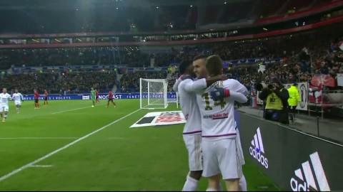 Lyon fullständigt krossade Guingamp i målkalaset