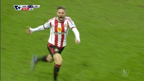 Mål: Borini ordnar kvittering för Sunderland (2-2)