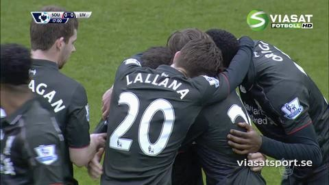 Mål: Coutinho öppnar målskyttet mot Southampton (0-1)