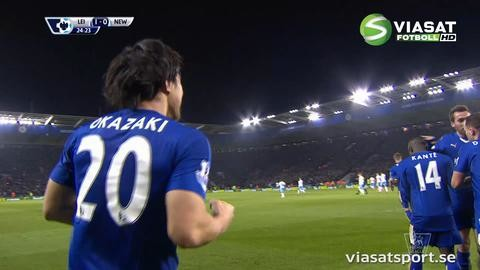 Mål: Drömmål ger Leicester ledningen (1-0)