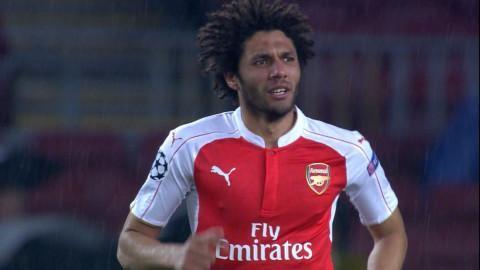 Mål: Elnenys första mål som Arsenal-spelare (1-1)