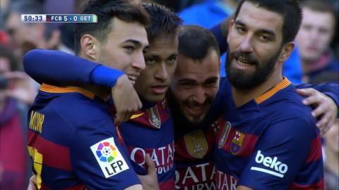 Mål: Frispelad Neymar sätter enkelt sitt andra (5-0)