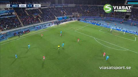 Mål: Hulk trycker in ledningen för Zenit (1-0)