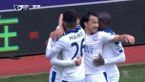 Mål: Mahrez öppnar målskyttet mot Palace (0-1)