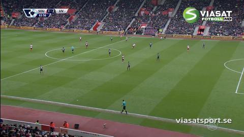 Mål: Mané trycker in reduceringen för Southampton (1-2)