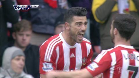 Mål: Pelle trycker in kvitteringen för Southampton (2-2)