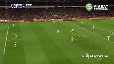 Mål: Swansea kvitterar - Routledge nätar (1-1)