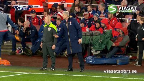 Mål: Williams fullbordar vändningen för Swansea (1-2)