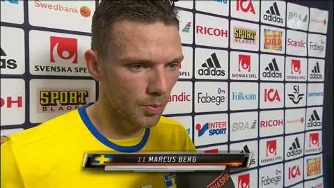 Marcus Berg om målet: ''Det var fint''
