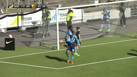 Ranegié gör mål i sin debutmatch för Djurgården