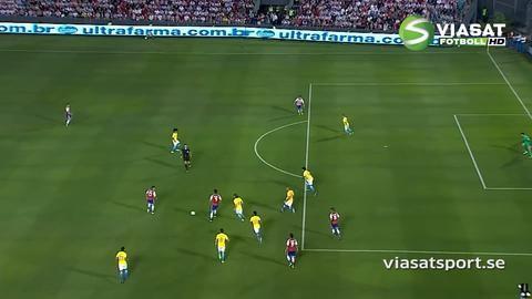 Sammandrag: Alves räddade en poäng för Brasilien
