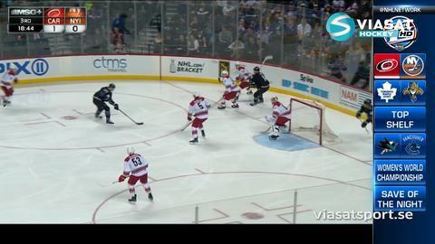 Sammandrag: New York Islanders-Carolina: 2-1 (efter straffar)